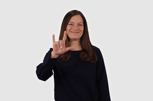 I love you in American Sign Language (ASL)
